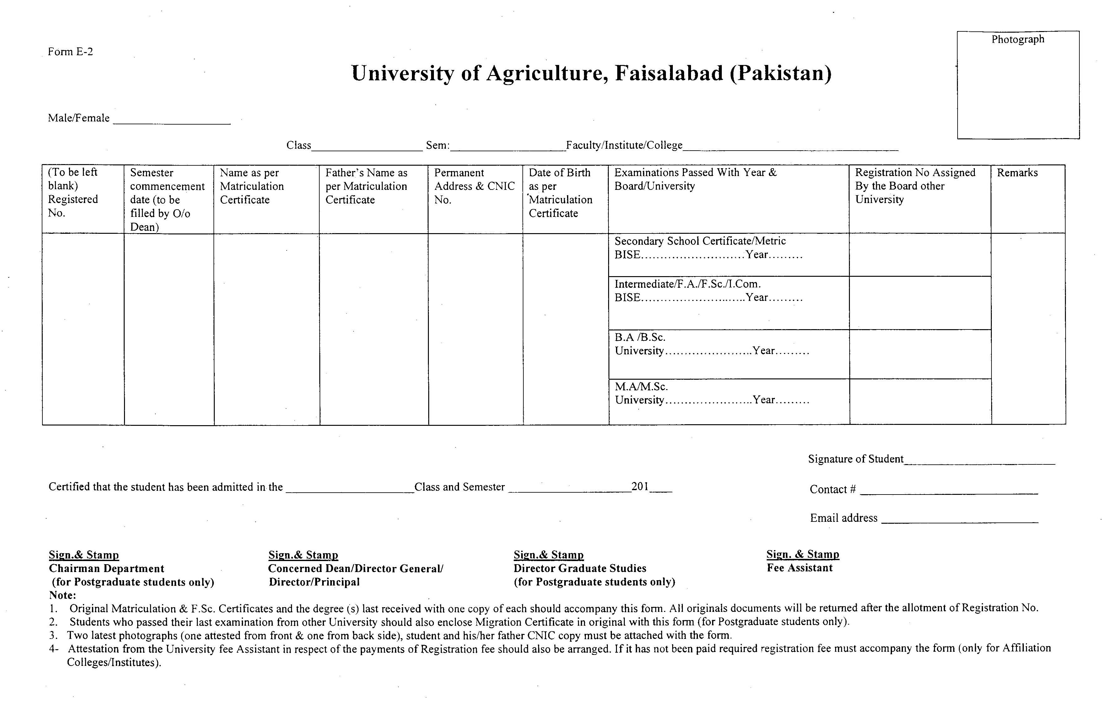 University of Agriculture Faisalabad Pakistan Downloads
